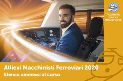 """Ammessi al corso """"Allievi Macchinisti Ferroviari"""""""
