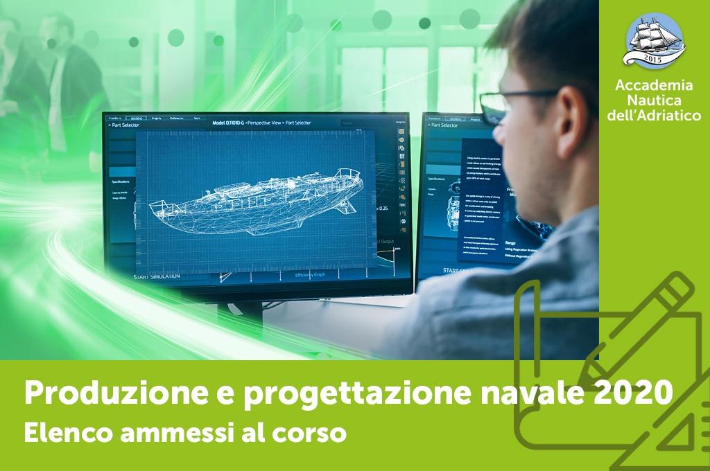 """Ammessi al corso """"Produzione e progettazione navale"""""""