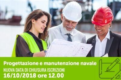 Posticipo Iscrizioni Corso Progettazione Navale con partnership Fincantieri