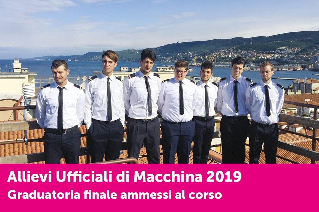 """È online la graduatoria finale degli ammessi al corso """"Allievi Ufficiali di Macchina"""""""