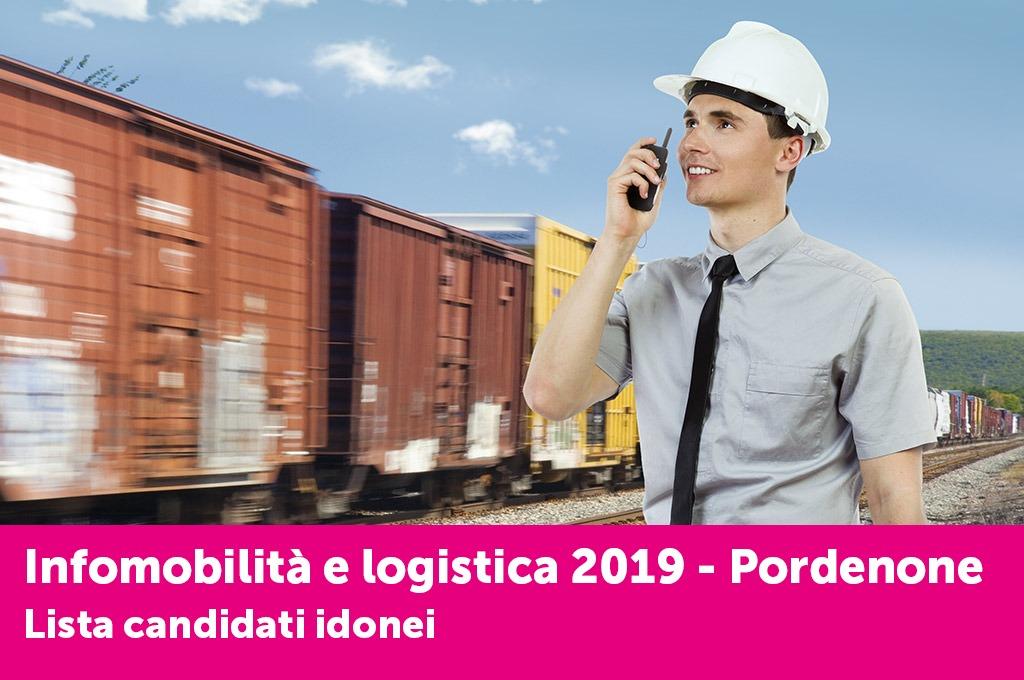 """È online l'elenco dei candidati idonei al corso """"Infomobilità e logistica"""" di Pordenone"""