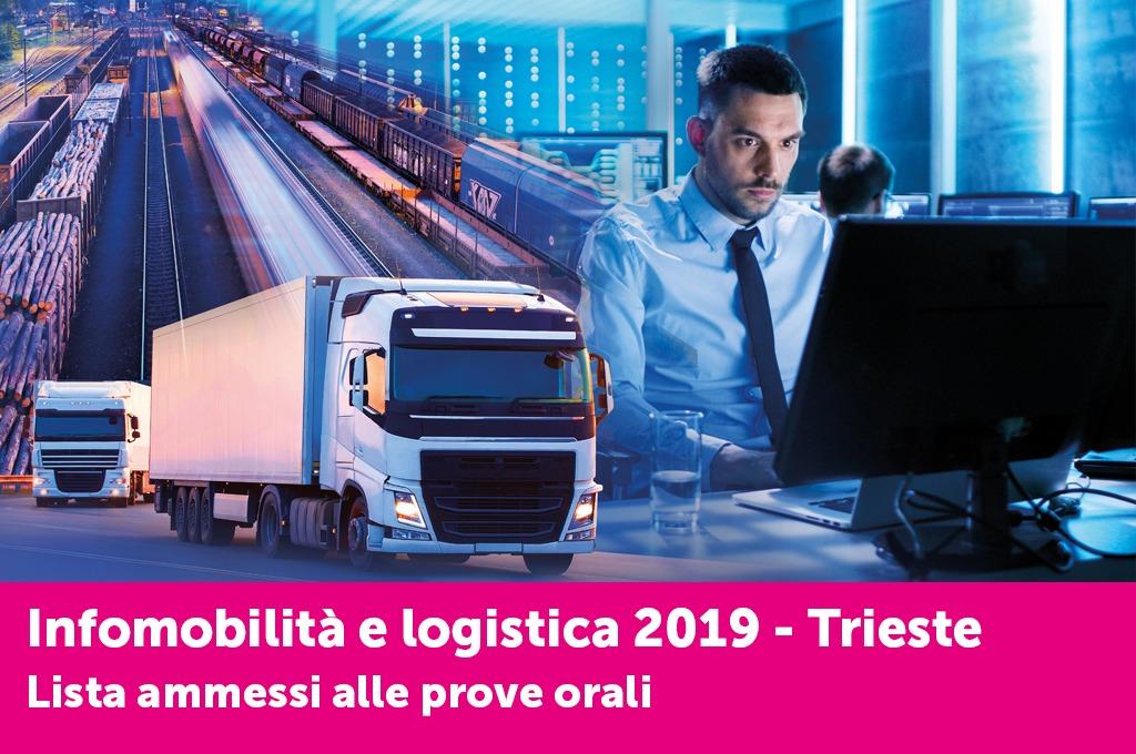 """Qui l'elenco degli ammessi alle prove orali per il corso """"Infomobilità e logistica"""" di Trieste"""